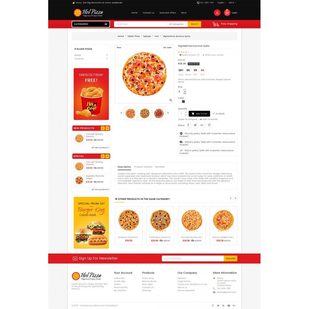 theme - Lebensmittel & Restaurants - Paprika Pizza - Fast Food - 6