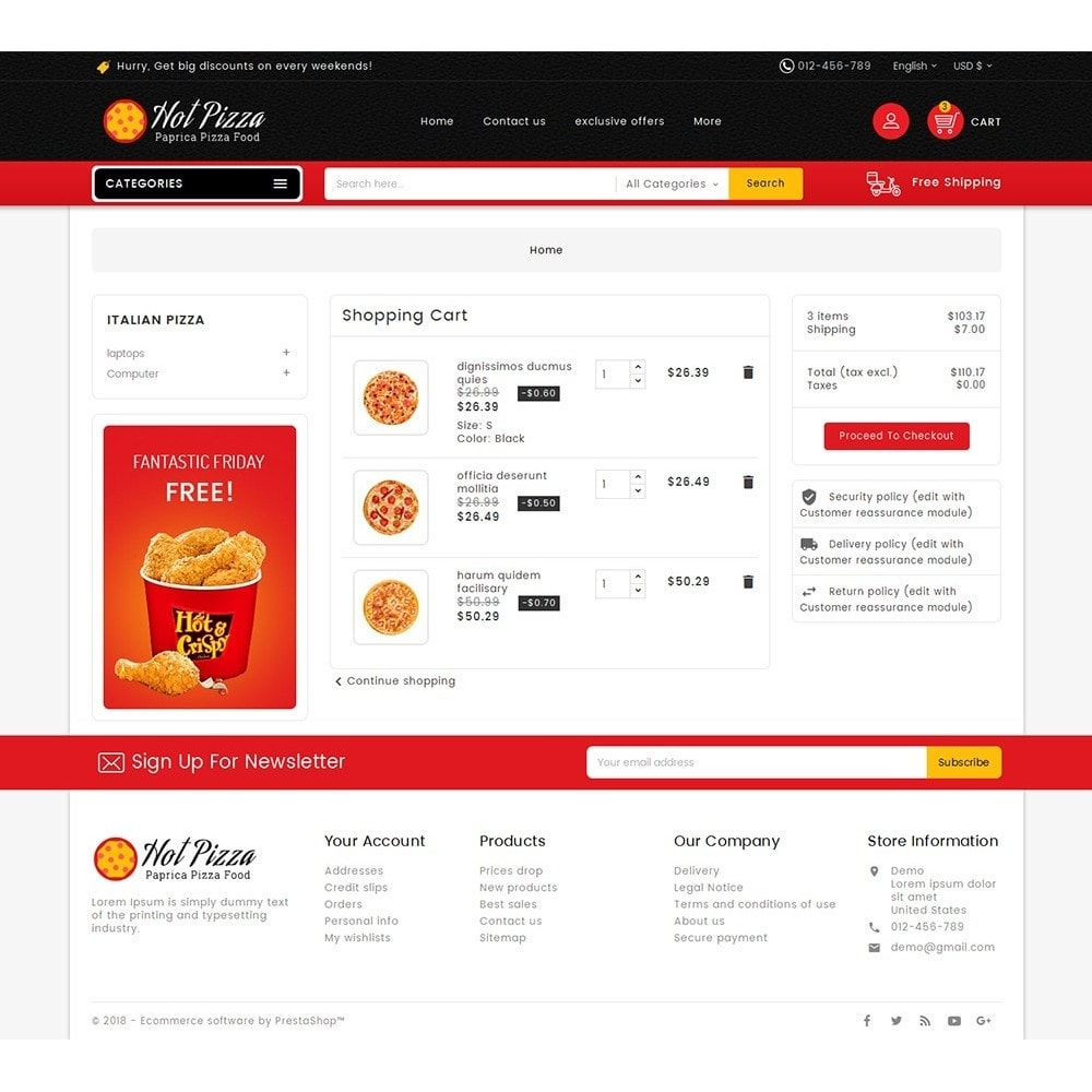 theme - Lebensmittel & Restaurants - Paprika Pizza - Fast Food - 7