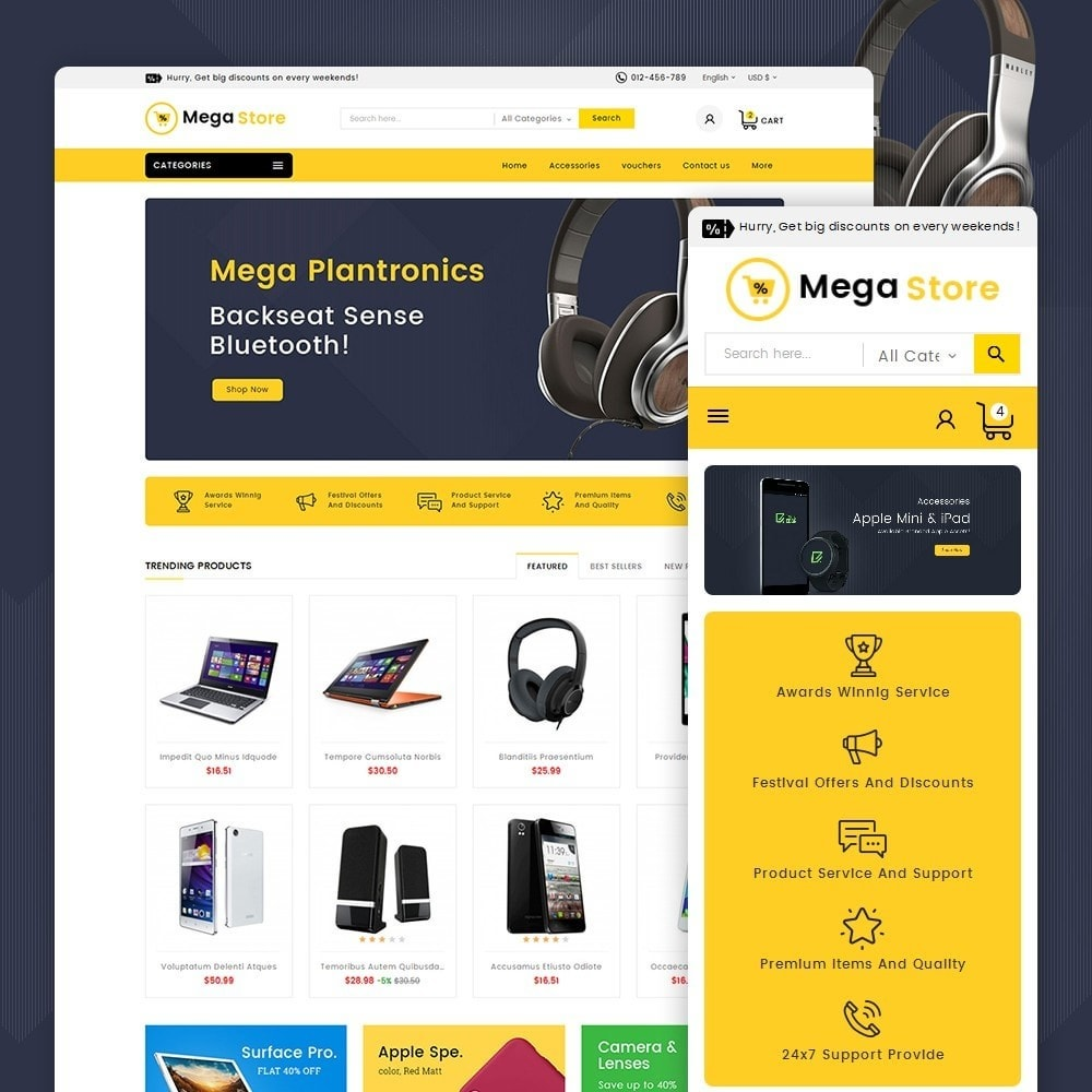 theme - Electrónica e High Tech - Mega Store Electronics - 2