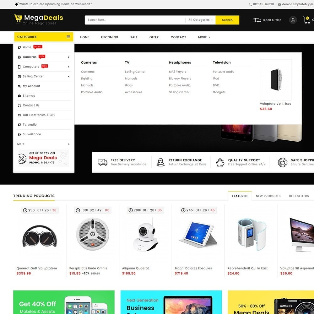 theme - Electronique & High Tech - Mega Deals Electronics Mart - 9