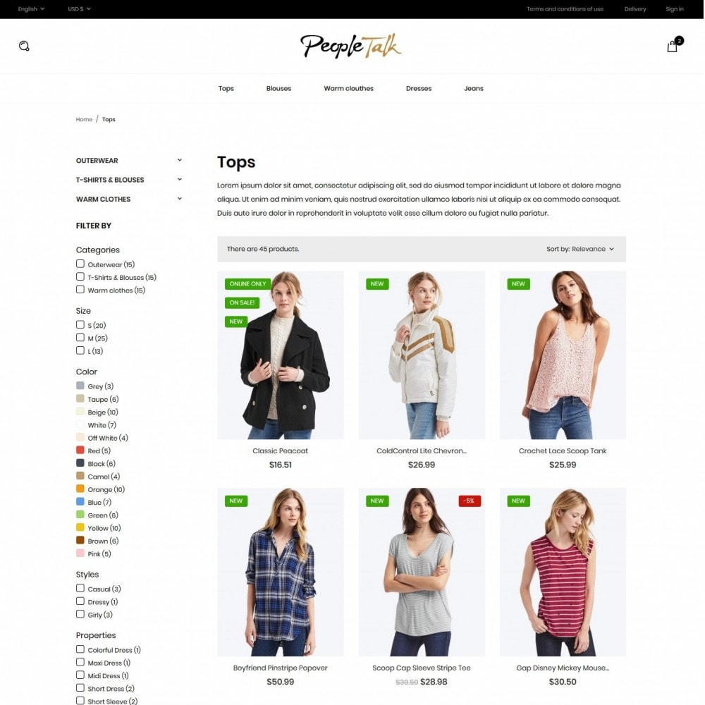 theme - Mode & Chaussures - PeopleTalk Fashion Store - 5