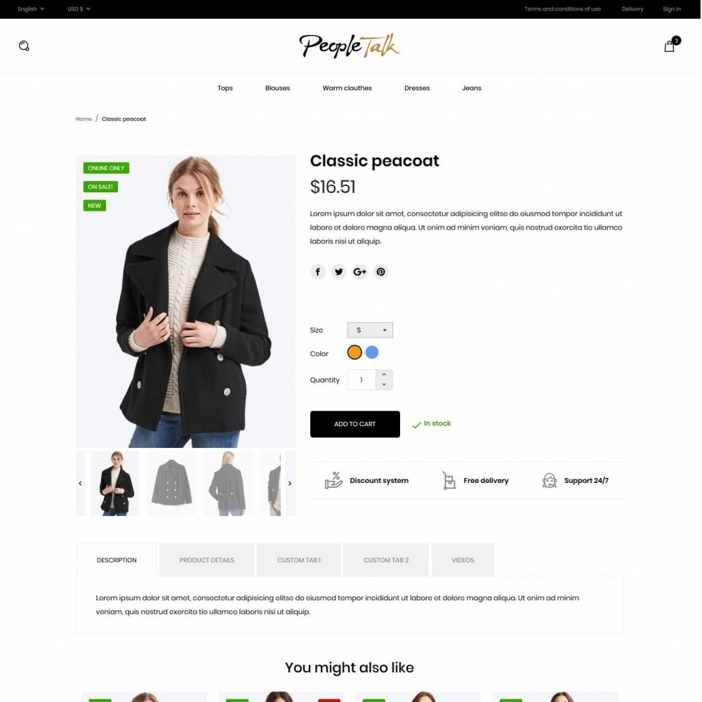 theme - Mode & Chaussures - PeopleTalk Fashion Store - 6