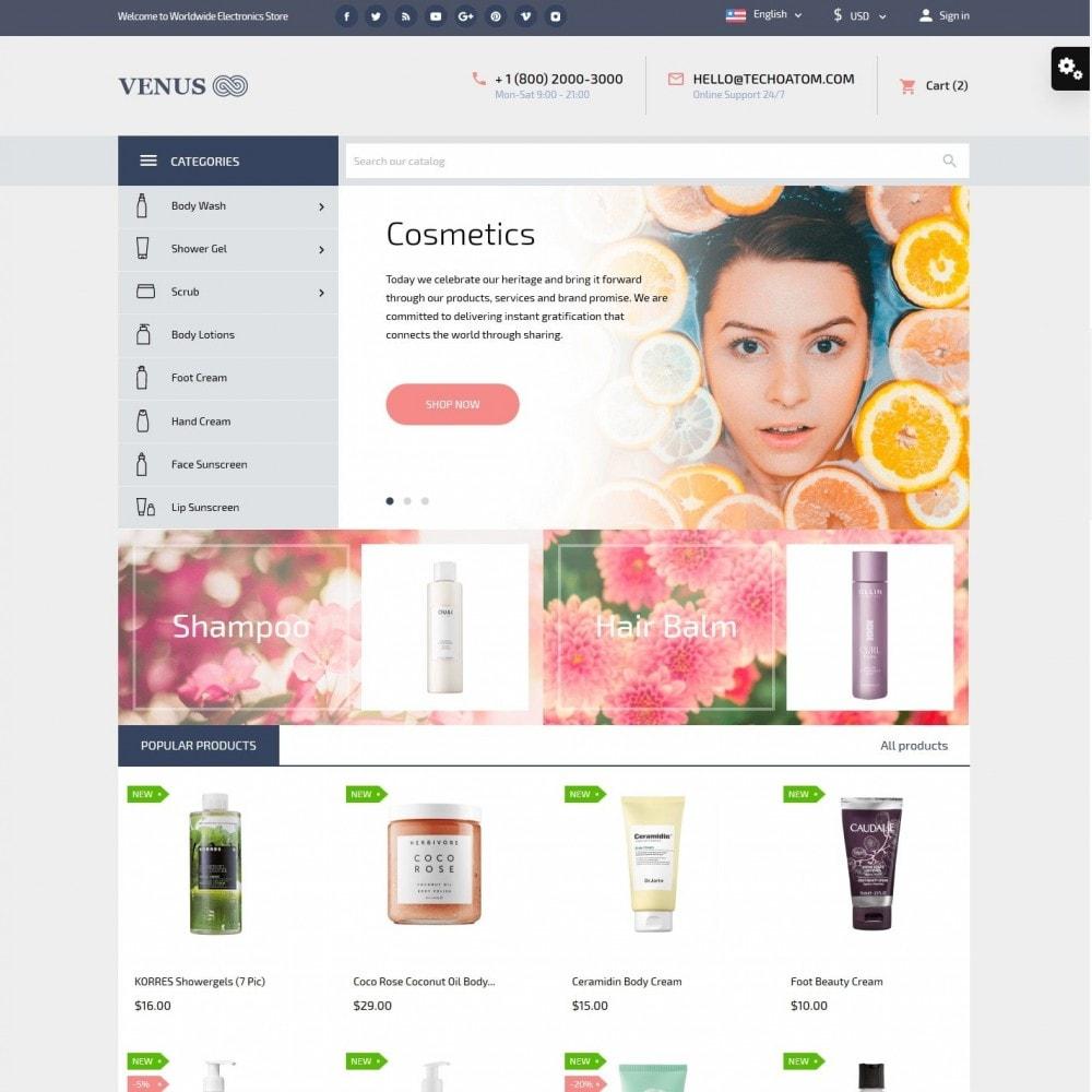 theme - Salud y Belleza - Venus Cosmetics - 2