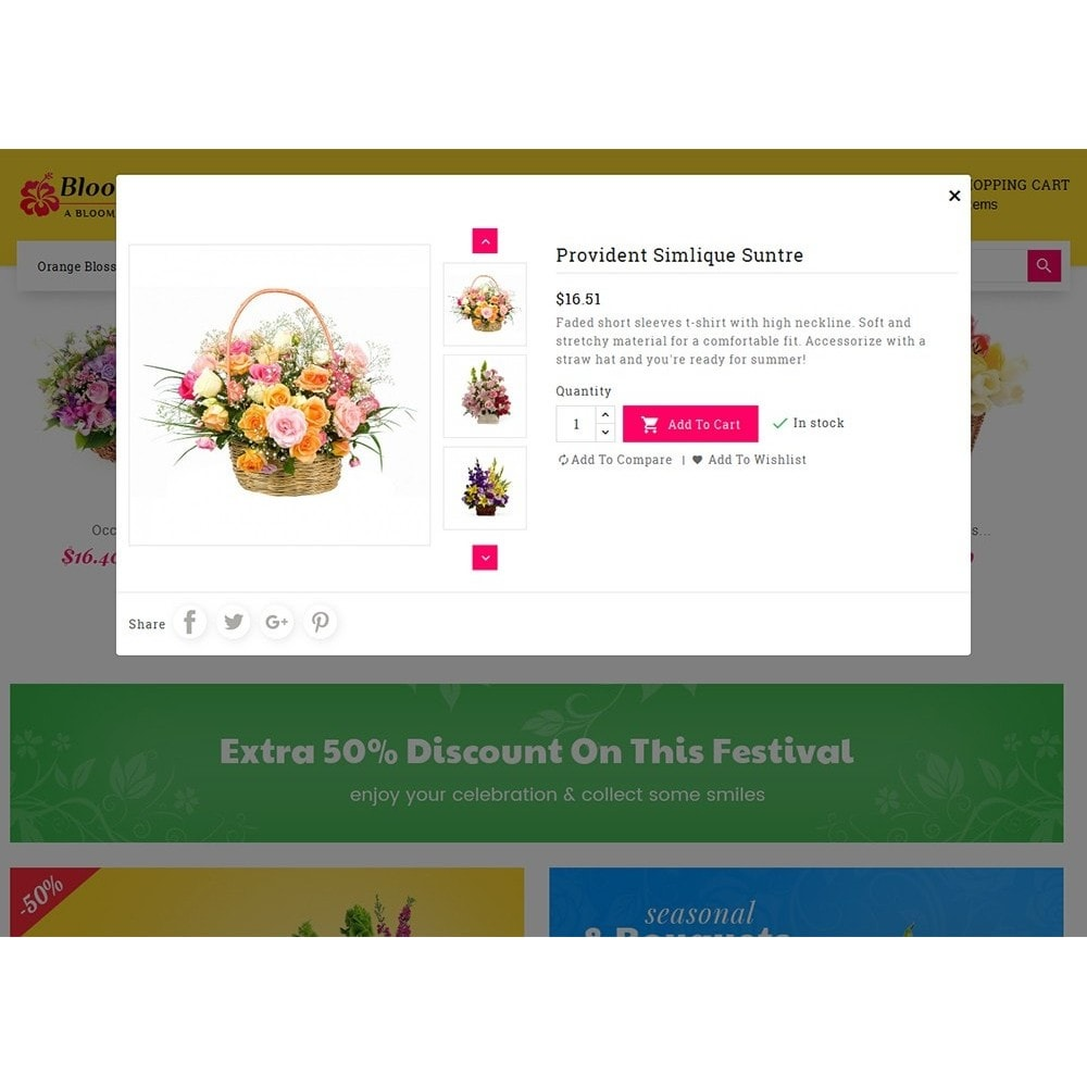theme - Cadeaux, Fleurs et Fêtes - Flower Bloom Works - 8
