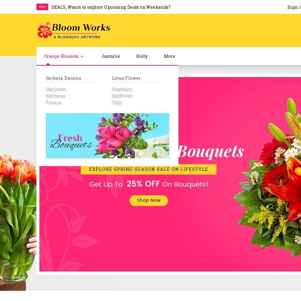theme - Cadeaux, Fleurs et Fêtes - Flower Bloom Works - 9