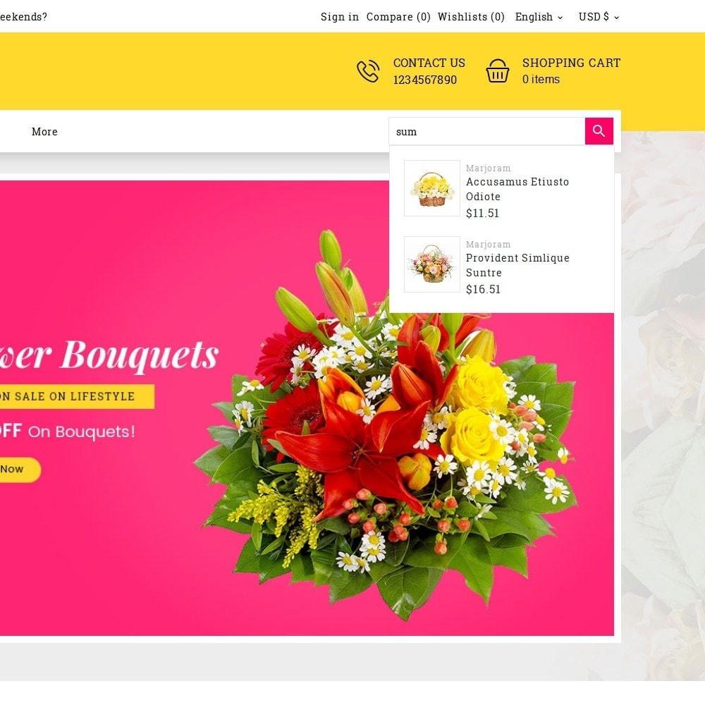 theme - Cadeaux, Fleurs et Fêtes - Flower Bloom Works - 10
