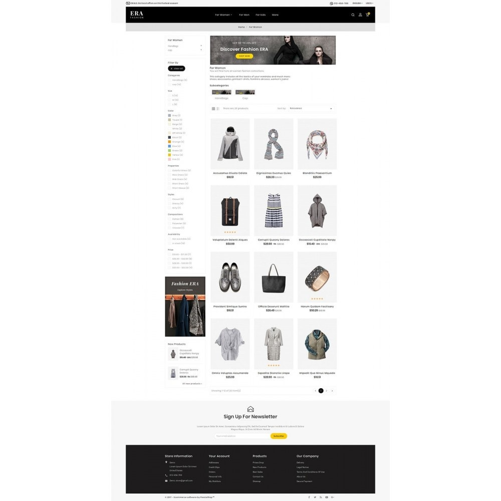 theme - Mode & Chaussures - Era Fashion Store - 4