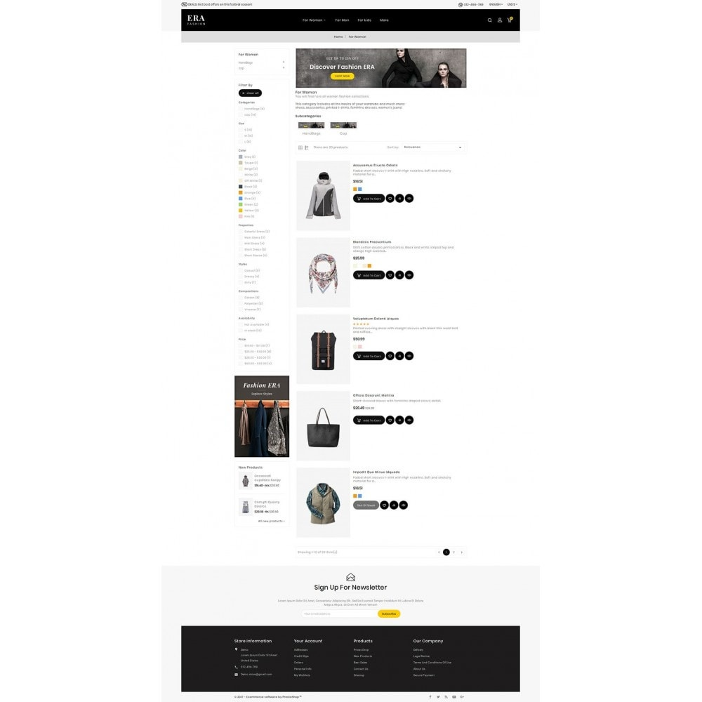 theme - Mode & Chaussures - Era Fashion Store - 5