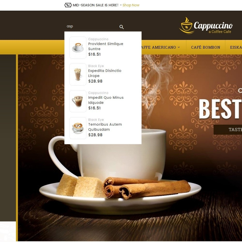 theme - Boissons & Tabac - Coffee Cappuccino - 10