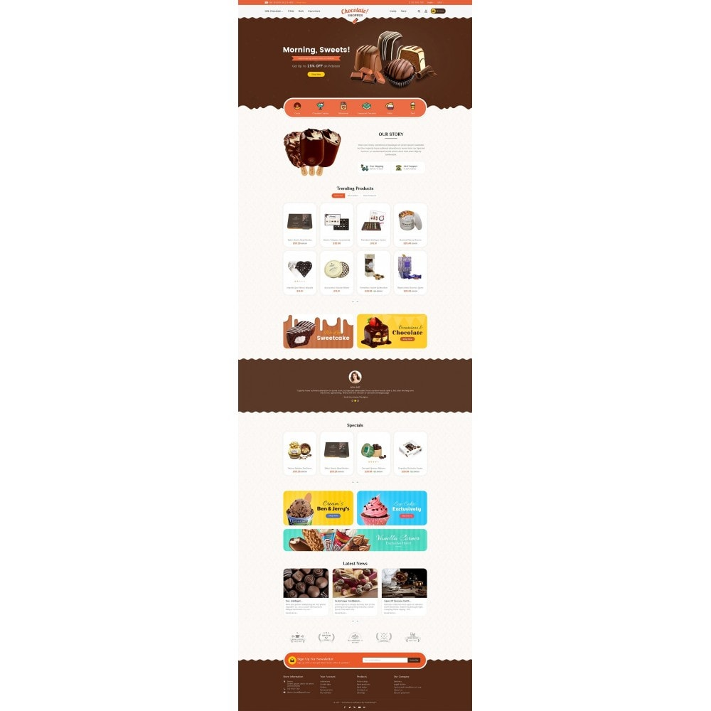 theme - Regali, Fiori & Feste - Chocolate Cream - 3