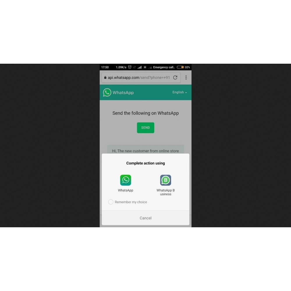 module - Ondersteuning & Online chat - WhatsApp Chat Support - 3
