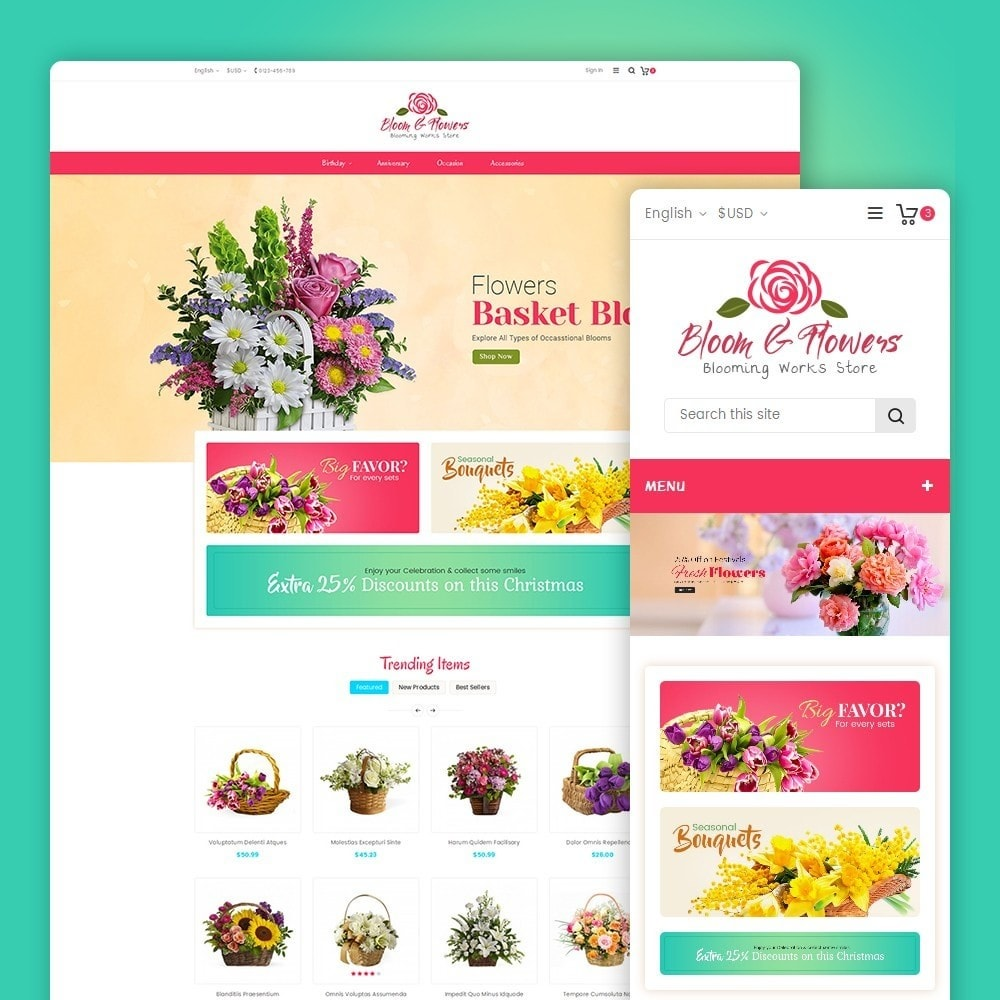 theme - Regali, Fiori & Feste - Bloom Flower Store - 2