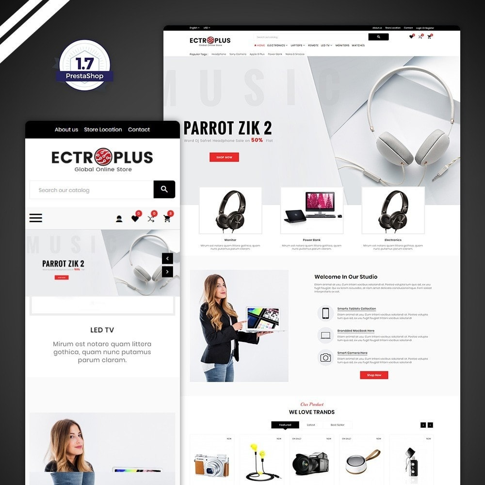 theme - Electronique & High Tech - ElectroPlus – Electronic Mega Store - 1