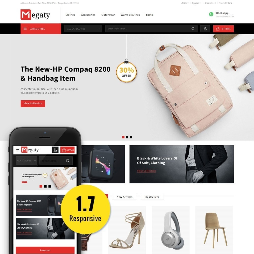 theme - Мода и обувь - Megaty Store - 1