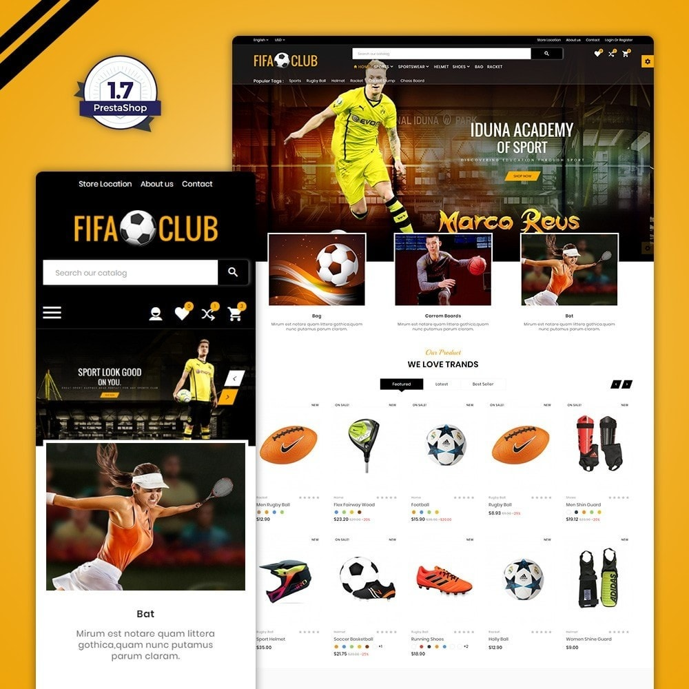 theme - Deportes, Actividades y Viajes - Fifa Club Sports and Accessories Store - 1