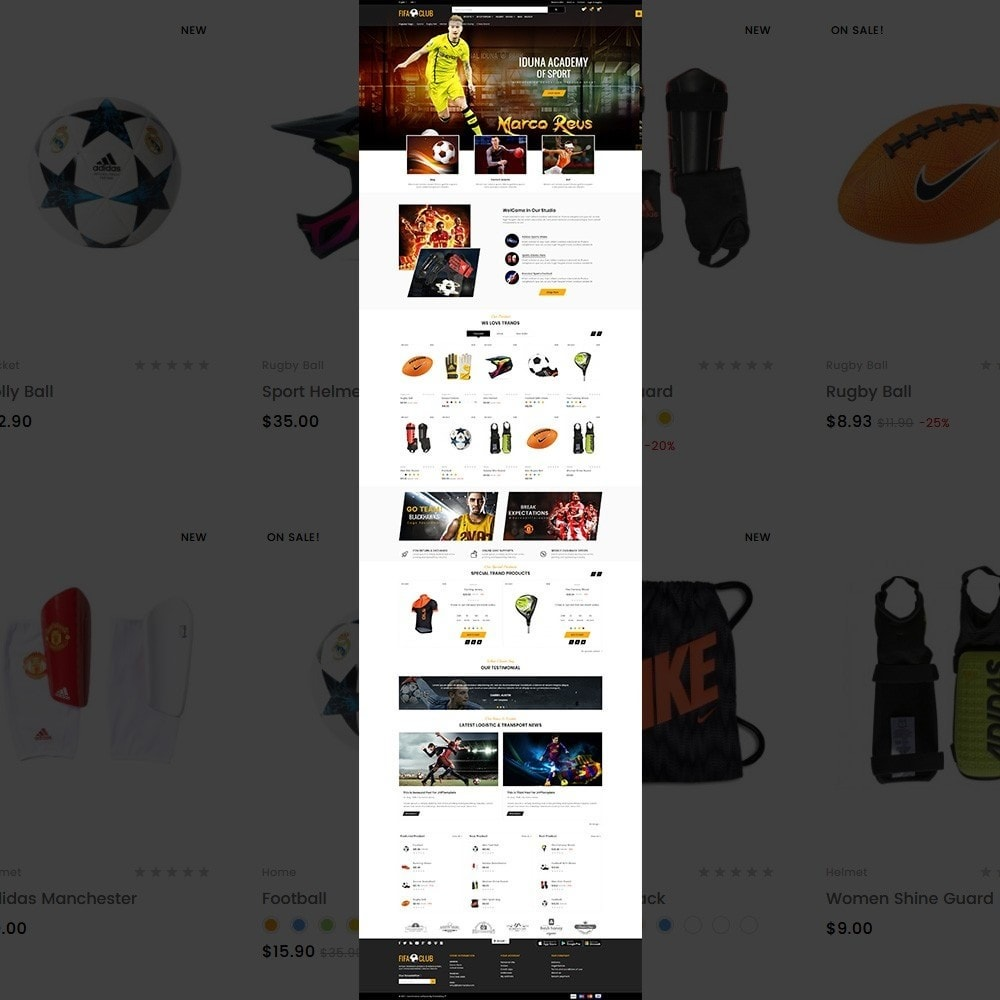 theme - Deportes, Actividades y Viajes - Fifa Club Sports and Accessories Store - 2