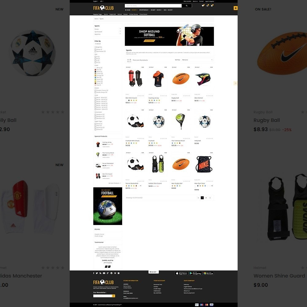 theme - Deportes, Actividades y Viajes - Fifa Club Sports and Accessories Store - 3