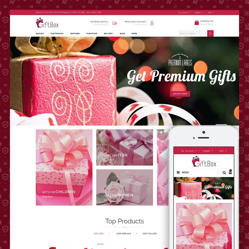 theme - Подарки, Цветы и праздничные товары - Gift Box - 1