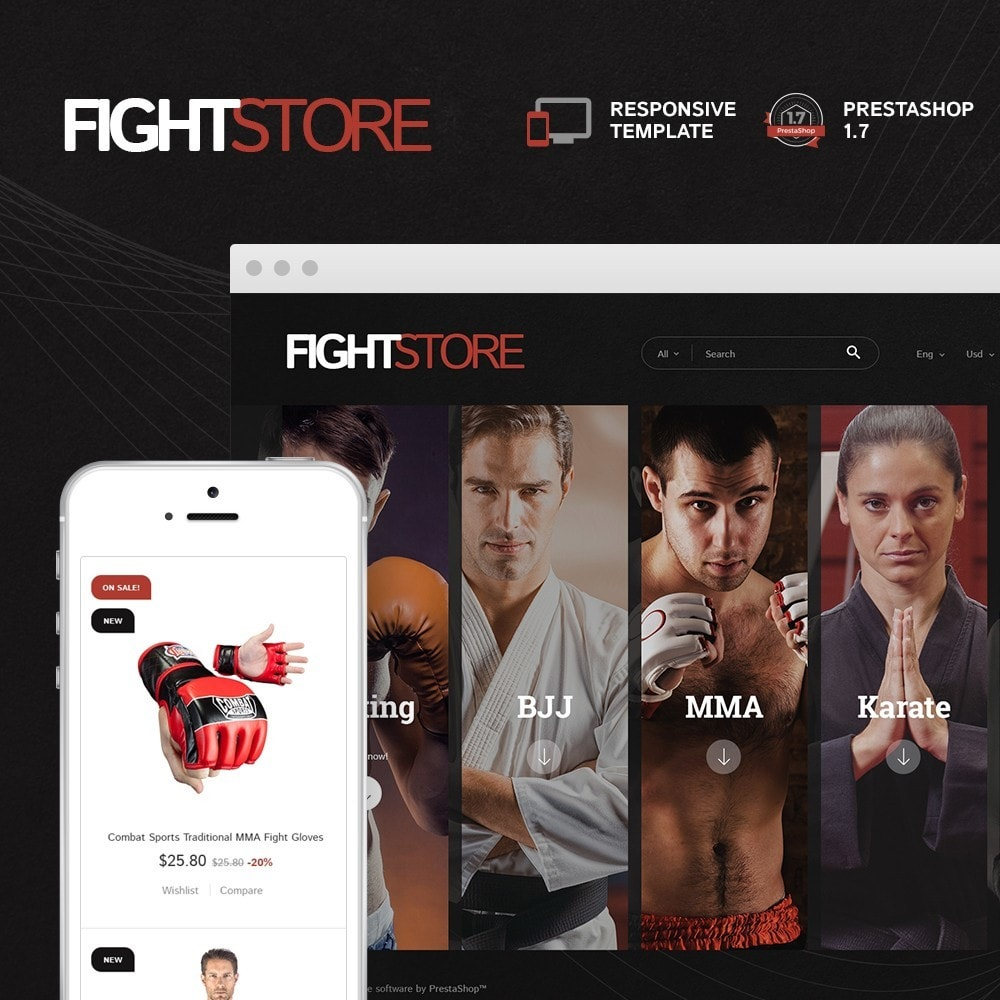 theme - Sport, Loisirs & Voyage - Fight Store - sports equipment and apparel for fighting - 1