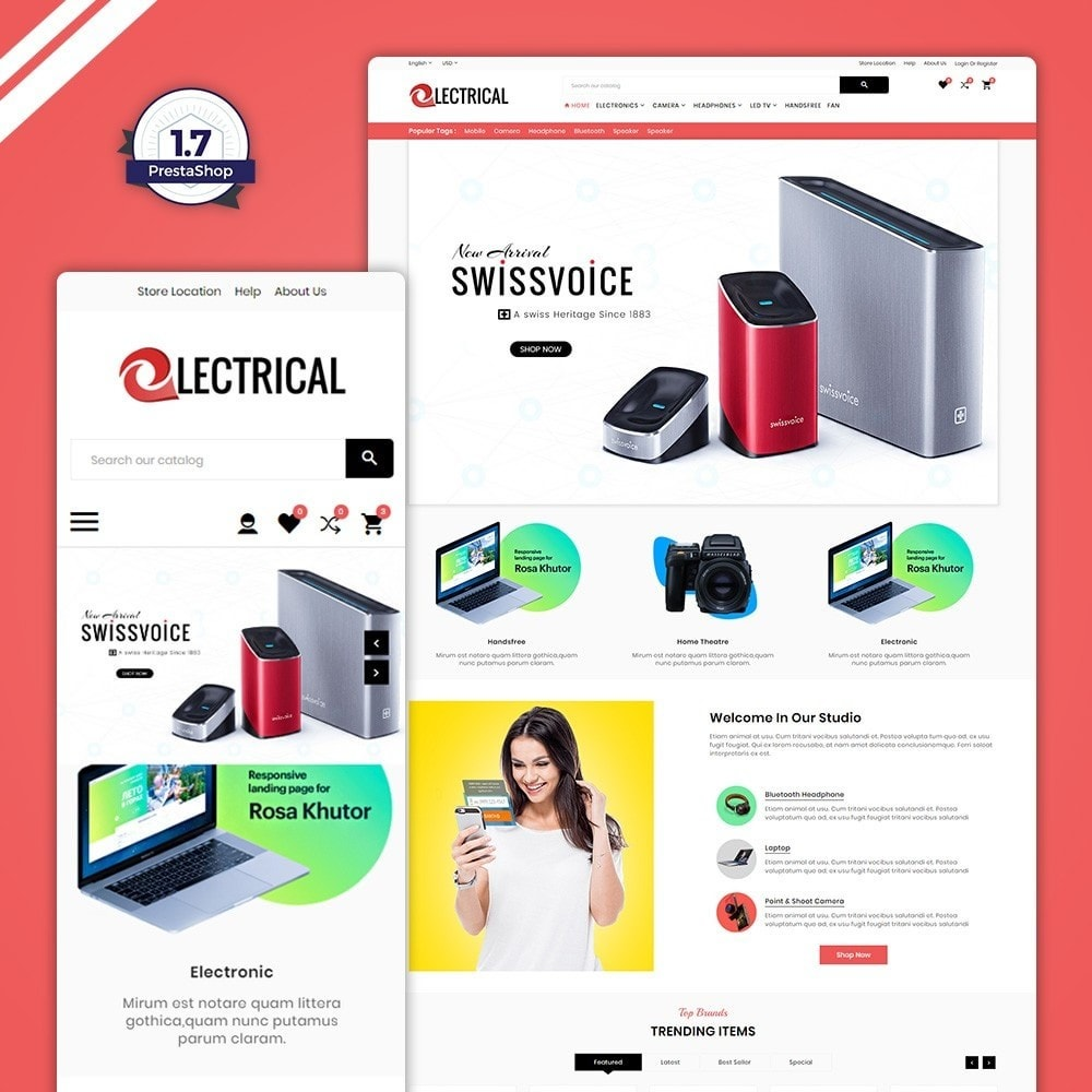 theme - Eletrônicos & High Tech - Electrical – Electronic & Accessories Store - 1