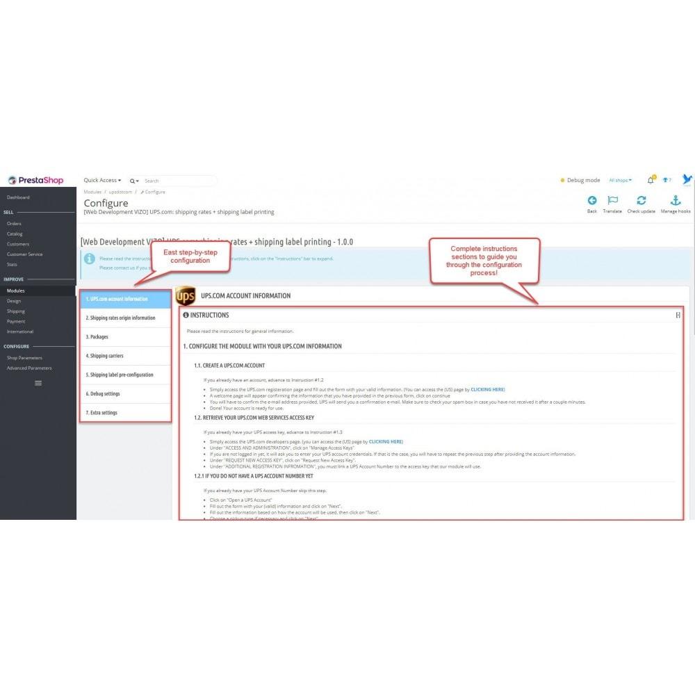 module - Przygotowanie & Wysyłka - UPS.com: shipping rates + shipping label printing - 1