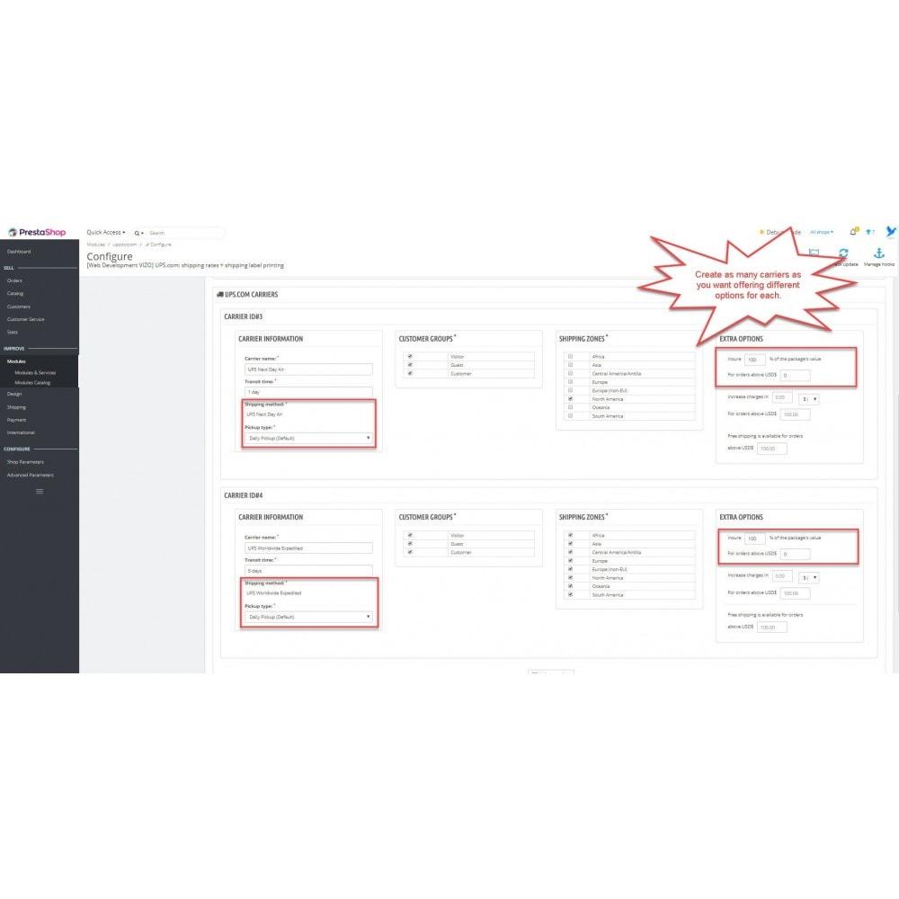 module - Przygotowanie & Wysyłka - UPS.com: shipping rates + shipping label printing - 10