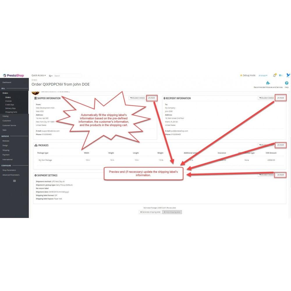 module - Préparation & Expédition - UPS.com: shipping rates + shipping label printing - 19
