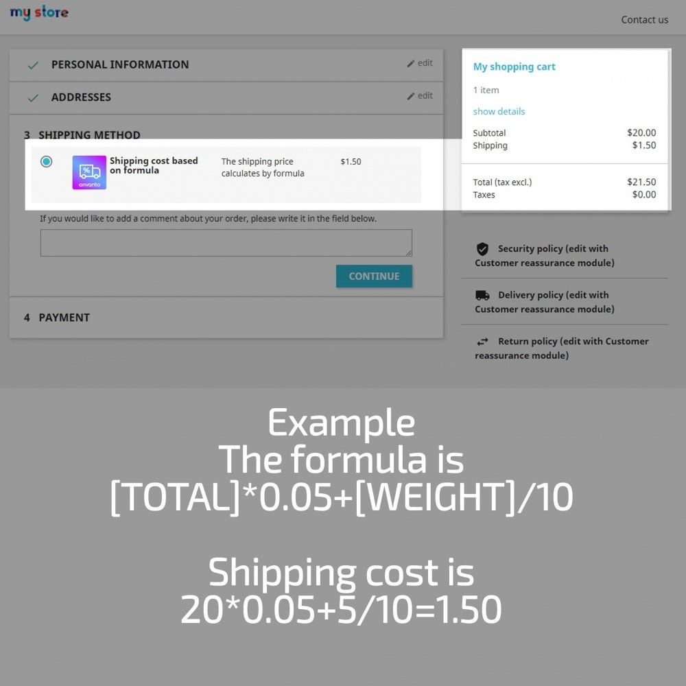 module - Spese di Spedizione - Shipping Cost based on Formula with Cart Total, Weight - 11