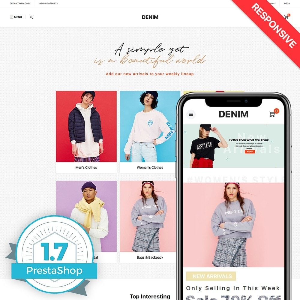 theme - Mode & Chaussures - Denim - 1