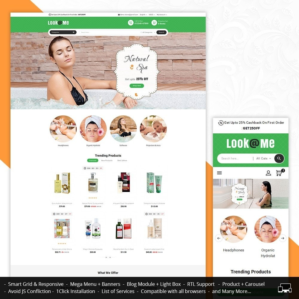 theme - Health & Beauty - Look me Body Spa - 1