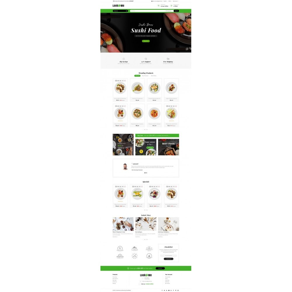 theme - Alimentation & Restauration - Look me Restaurant Food - 2