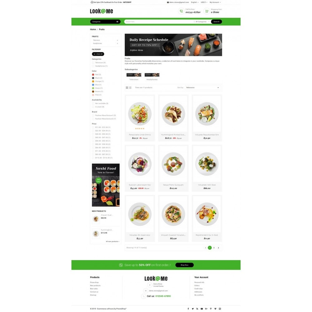 theme - Alimentation & Restauration - Look me Restaurant Food - 3