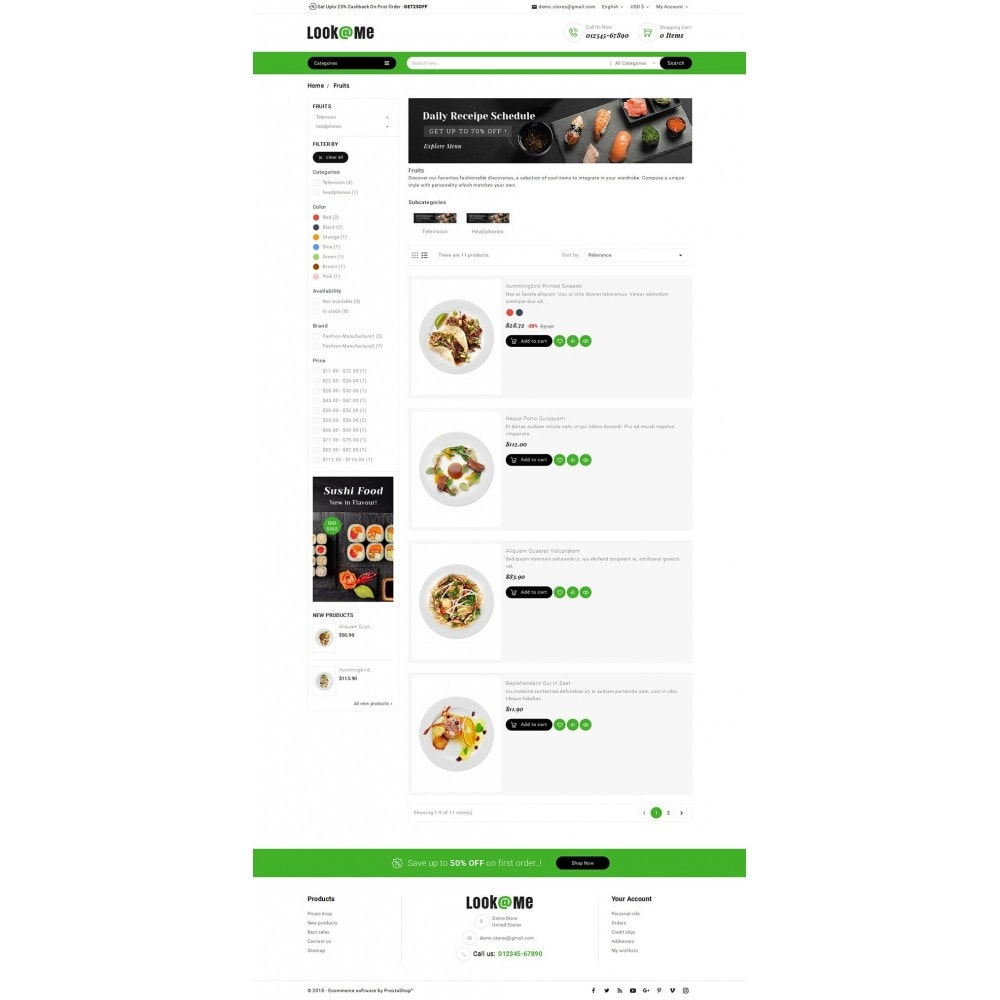 theme - Alimentation & Restauration - Look me Restaurant Food - 4