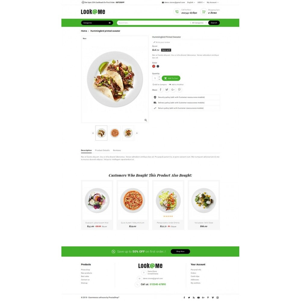 theme - Alimentation & Restauration - Look me Restaurant Food - 5