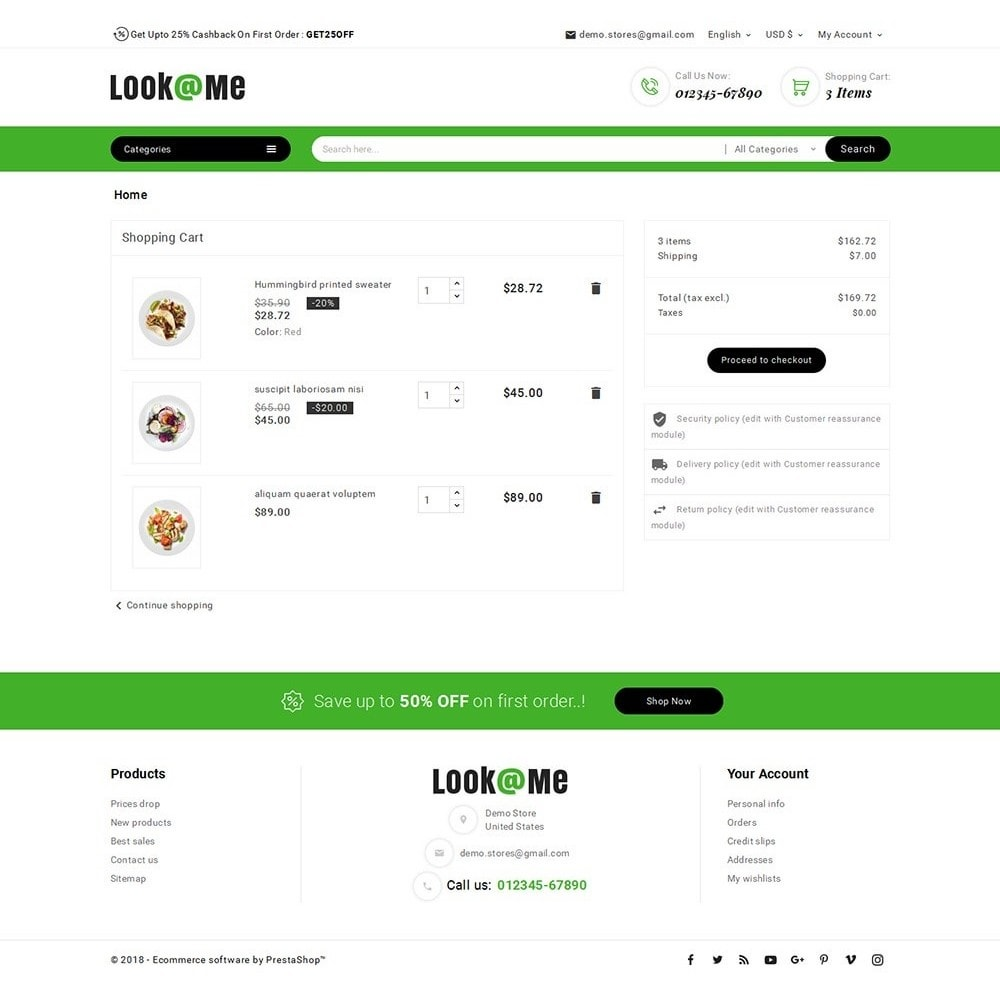 theme - Alimentation & Restauration - Look me Restaurant Food - 6