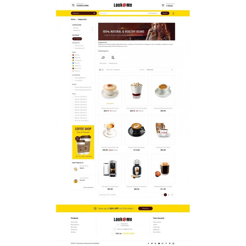 theme - Bebidas & Tabaco - Look me Coffee Cafe - 3