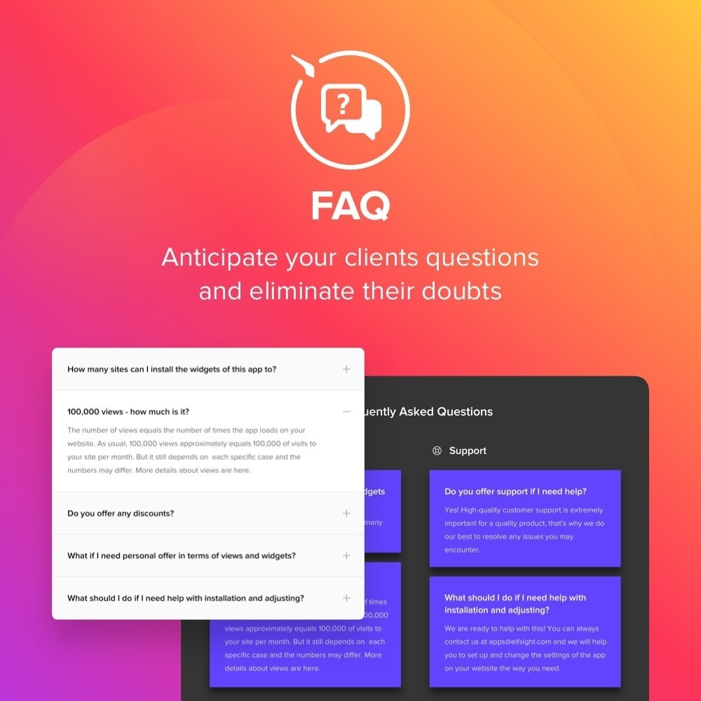 module - FAQ (Frequently Asked Questions) - Elfsight FAQ - 1