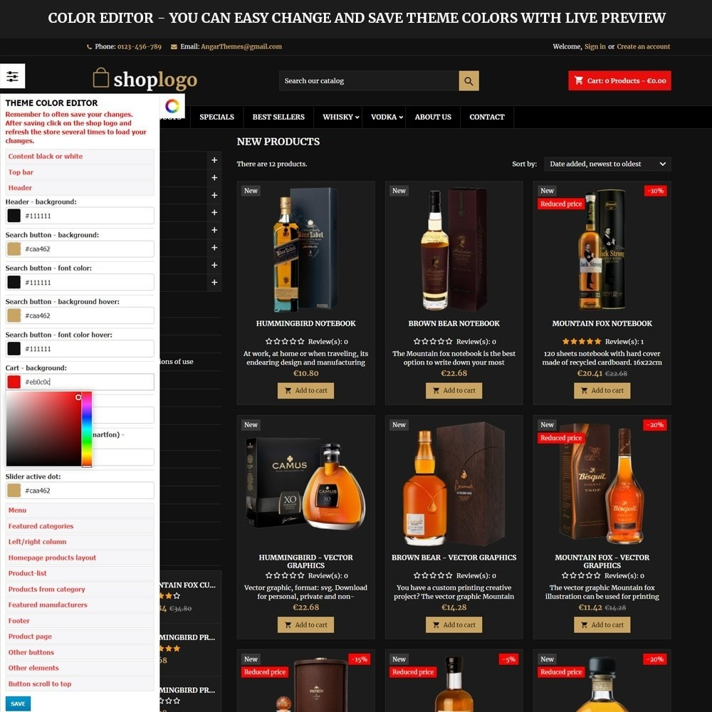 theme - Drink & Wine - AT18 Black - Drink, alcohol, liquor, whisky, beer store - 3