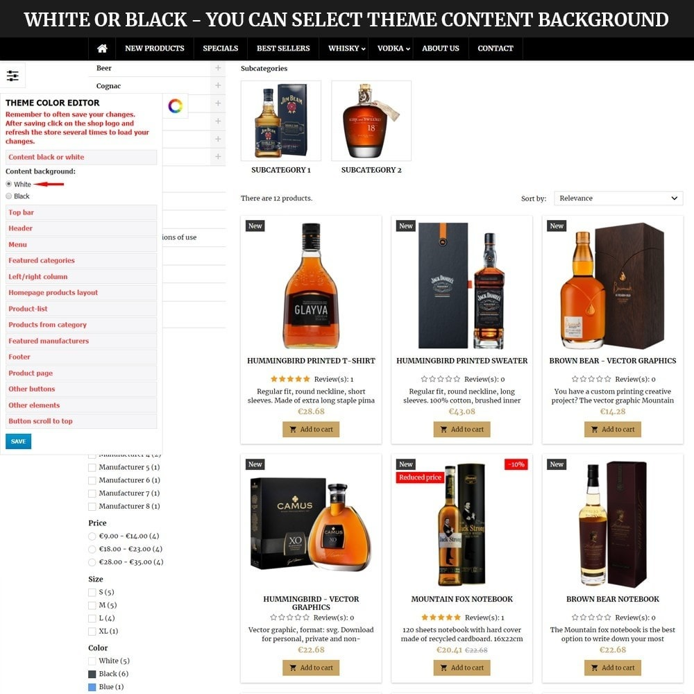 theme - Drink & Wine - AT18 Black - Drink, alcohol, liquor, whisky, beer store - 10