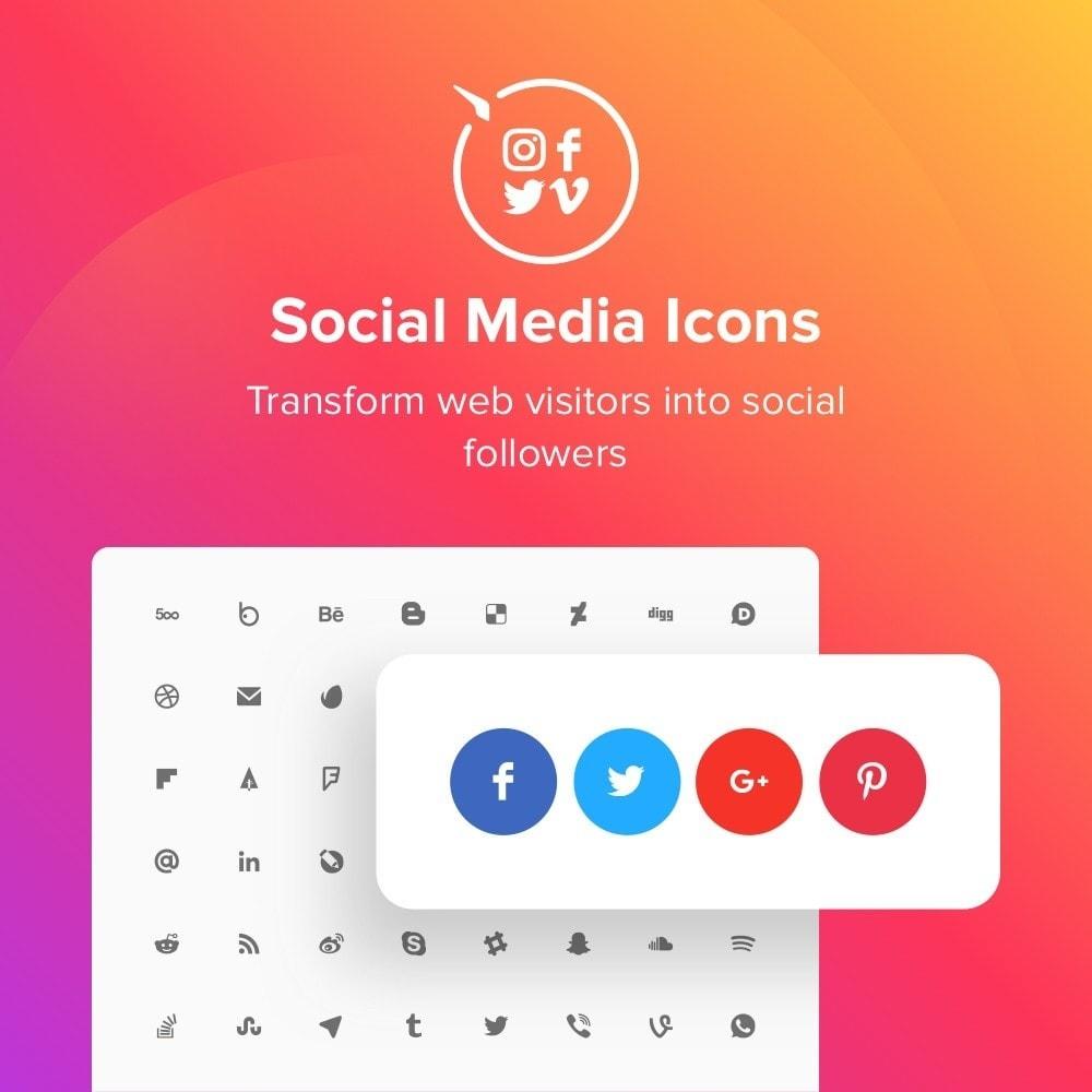 module - Compartilhamento & Comentários - Elfsight Social Icons - 1