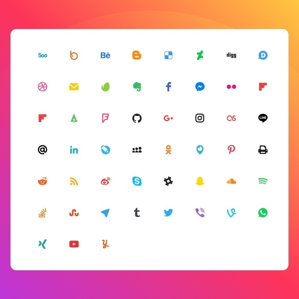 module - Share Buttons & Comments - Elfsight Social Icons - 2