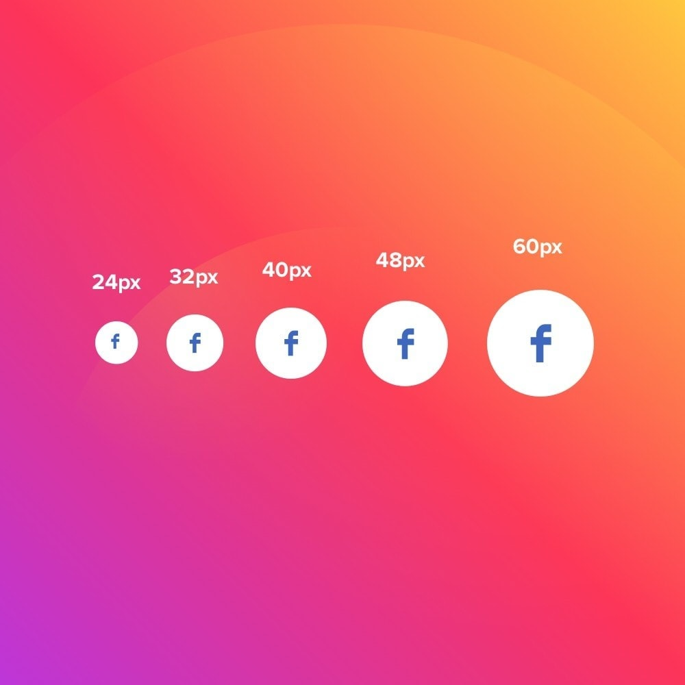 module - Compartilhamento & Comentários - Elfsight Social Icons - 3