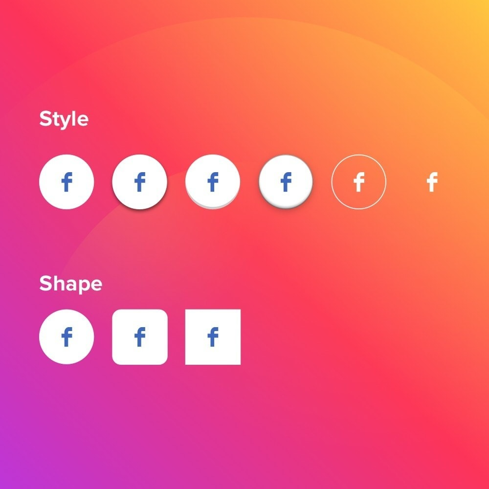 module - Share Buttons & Comments - Elfsight Social Icons - 4