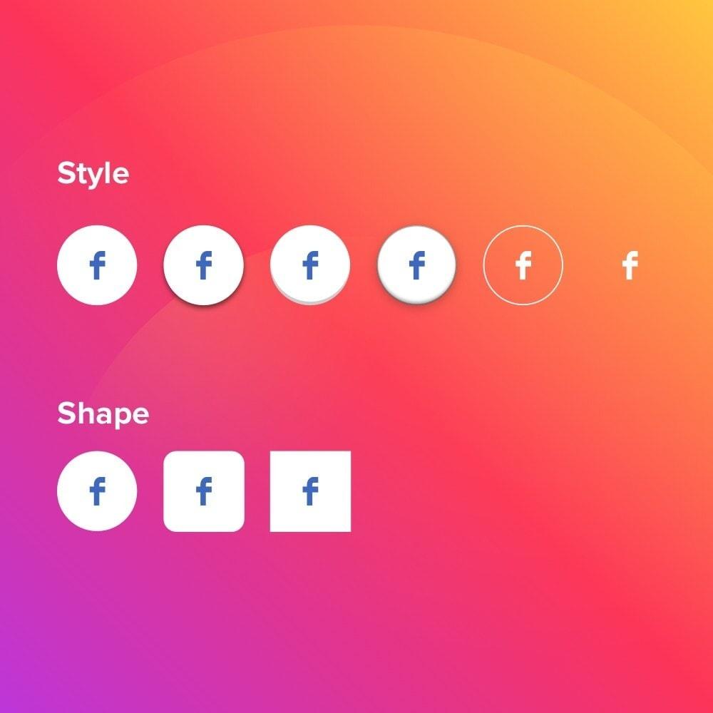 module - Compartilhamento & Comentários - Elfsight Social Icons - 4