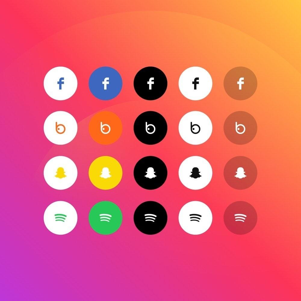 module - Teilen & Kommentieren - Elfsight Social Icons - 5