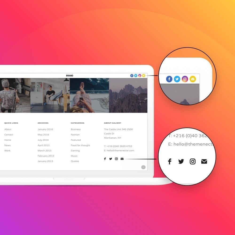 module - Compartilhamento & Comentários - Elfsight Social Icons - 6