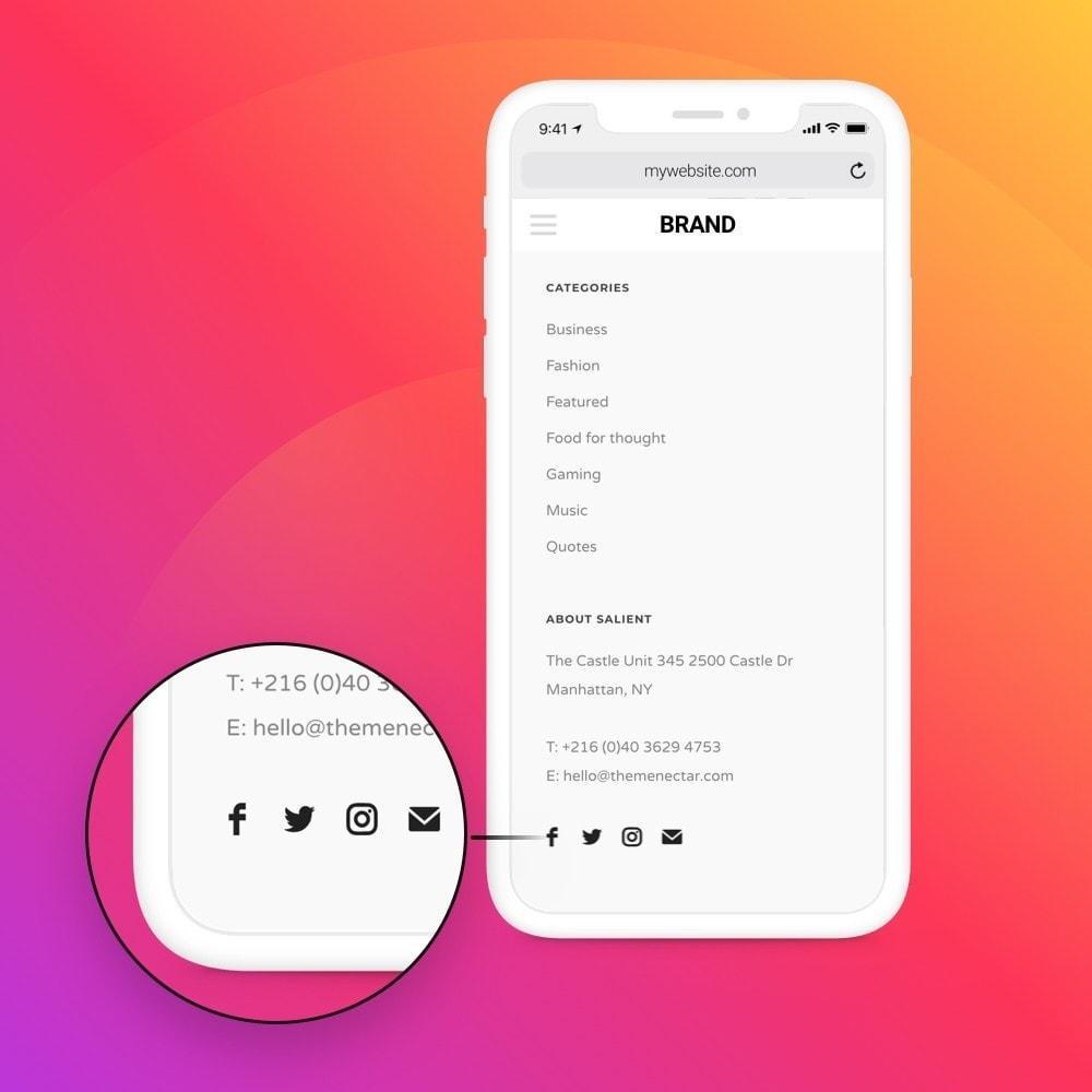 module - Compartilhamento & Comentários - Elfsight Social Icons - 7