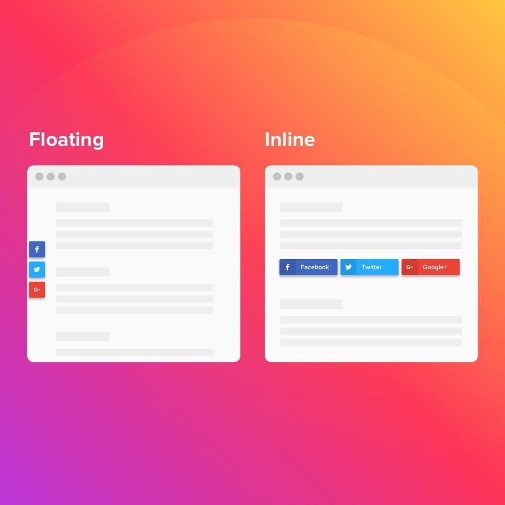 module - Teilen & Kommentieren - Elfsight Social Share Buttons - 3