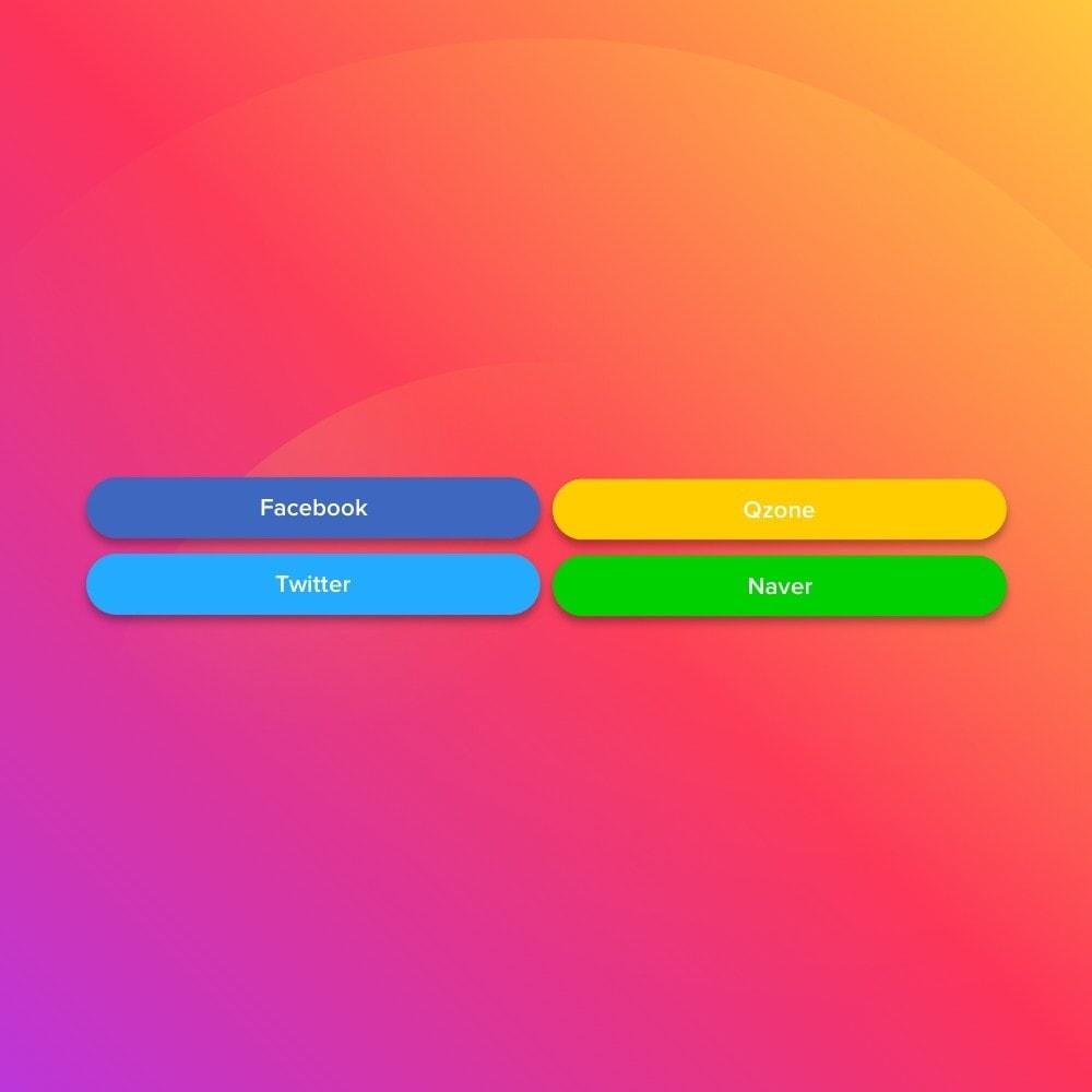 module - Teilen & Kommentieren - Elfsight Social Share Buttons - 4