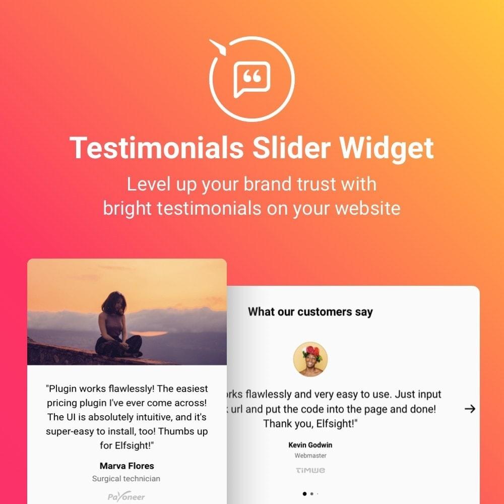 module - Customer Reviews - Elfsight Testimonials Slider - 1